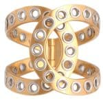 Chanel Two-Tone Rivet Hinge Cuff Chanel Two-Tone Rivet Hinge Cuff CH