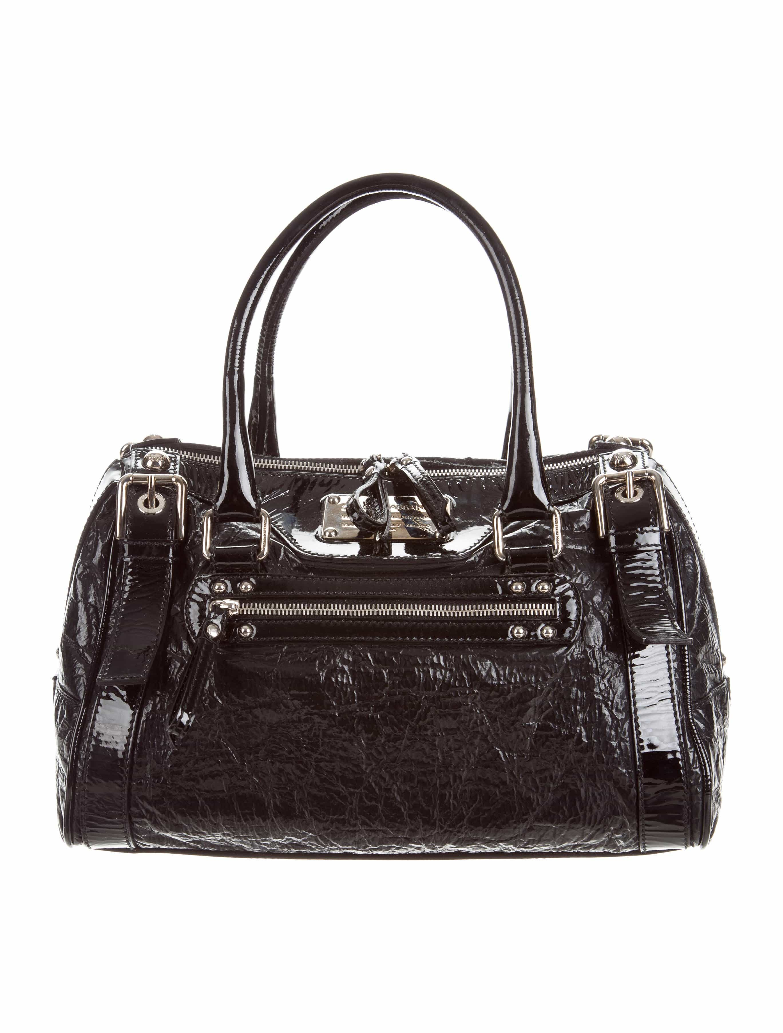 96b30752a60b Black Patent Leather Dolce   Gabbana Miss Easy Way Bag With Silver-Tone  Hardware – Parvinu