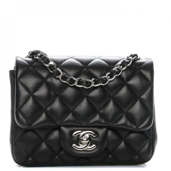 Top Rated Products chanel lambskin quilted mini square flap black 00